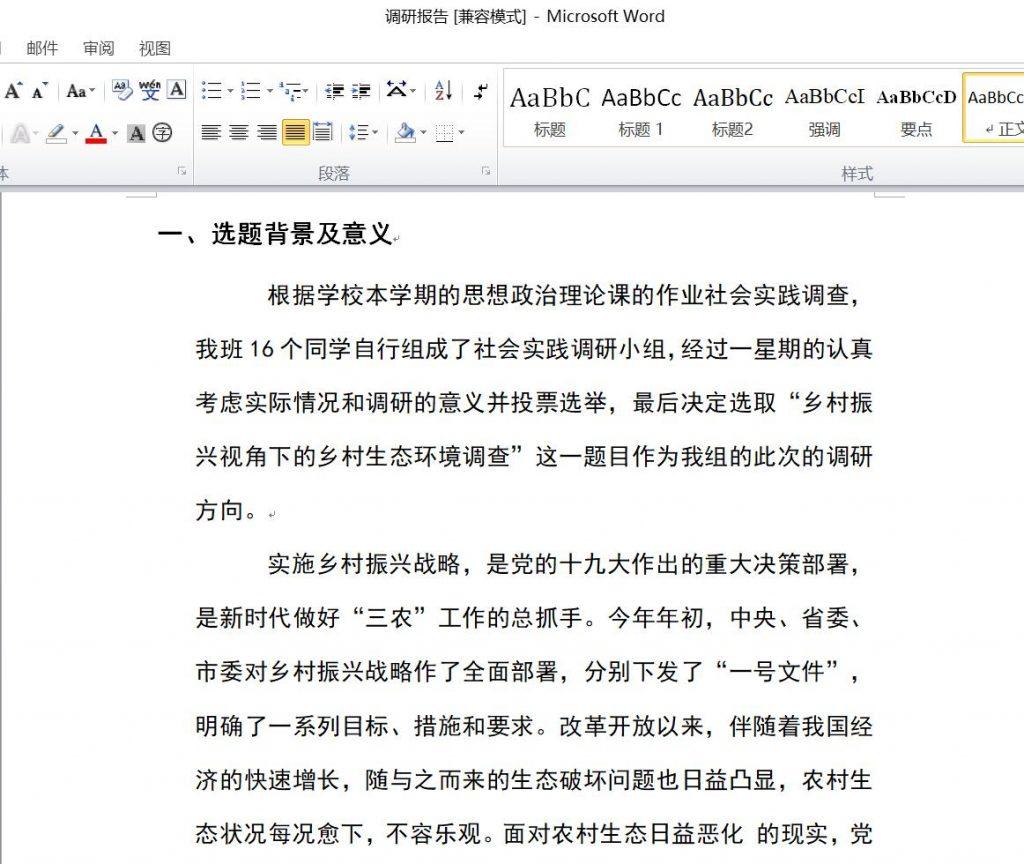 调研报告-Word格式