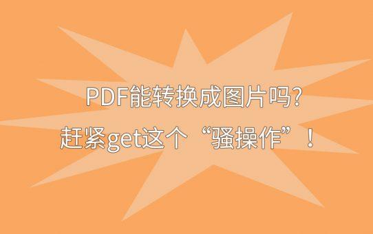 "PDF能转换成图片吗?赶紧get这个""骚操作""!"
