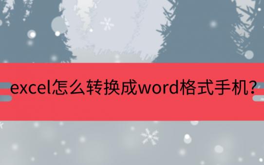 excel怎么转换成word格式手机?骨灰级方法确定不收藏吗?