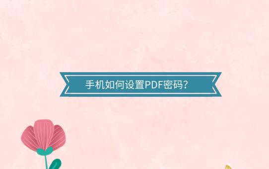手机如何设置PDF密码?分享两个超好用的PDF加密技巧!