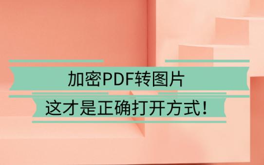 加密PDF转图片,这才是正确打开方式!